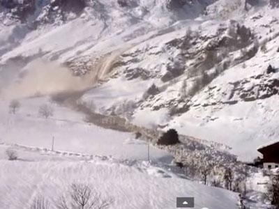 Moć prirode - snježna lavina - Foto: Screenshot/YouTube