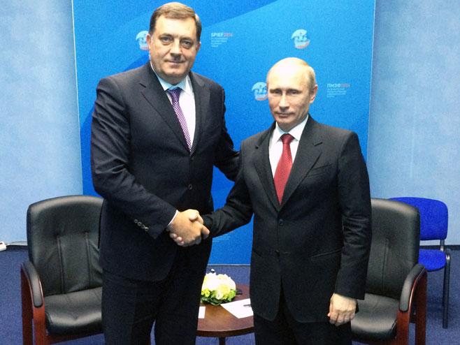 Milorad Dodik i Vladimir Putin - Foto: SRNA