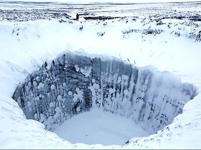 Misteriozna rupa u Sibiru (arhiv)  FOTO:Vladimir Pushkarev/Russian Centre of Arctic Exploration -