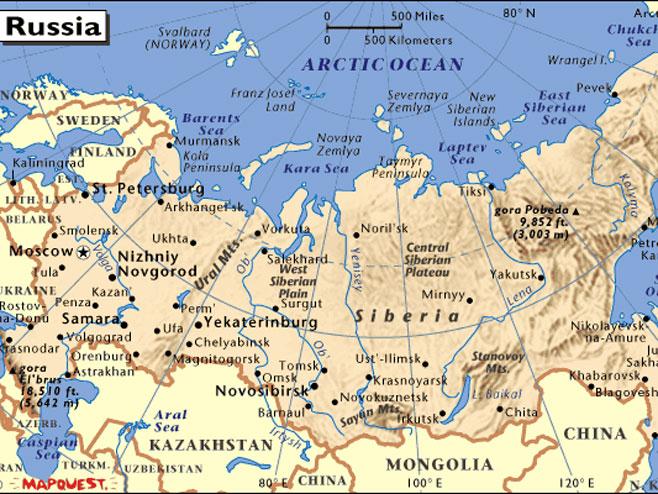 rusija mapa Rusija: Uhapšen islamista, namjeravao da aktivira bombu u vozu rusija mapa