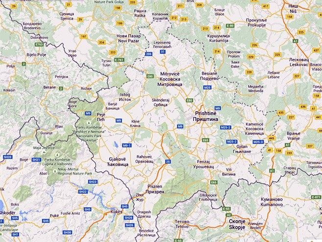 Kosovo (Foto: maps.google.ba) -
