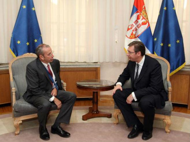 Sastanak Vučić - Devenport - Foto: TANЈUG