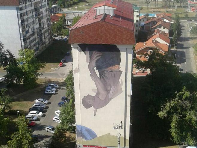 Banjaluka zavr en mural na zgradi u boriku for Mural u vukovarskoj ulici