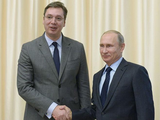Vučić i Putin (arhiv) (foto: © Sputnik/ Alekseй Nikolьskiй) -