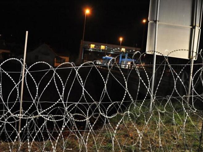 Ograda na granici Slovenije sa Hrvatskom (AP foto, Foto STA - Rasto Božič) -