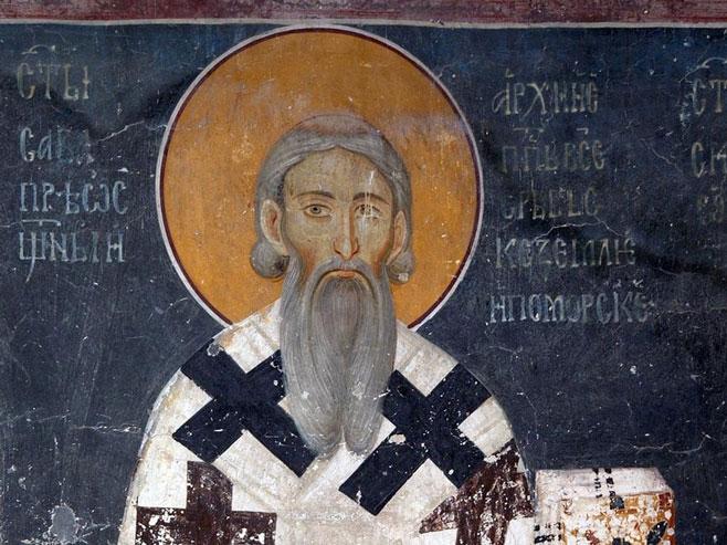 Sveti Sava - Freska iz manastira Studenica - Foto: Wikipedia