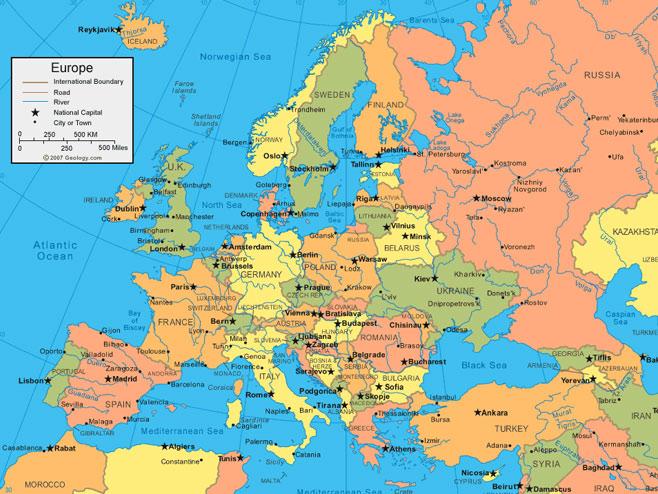 Karta Evrope I Azije Superjoden