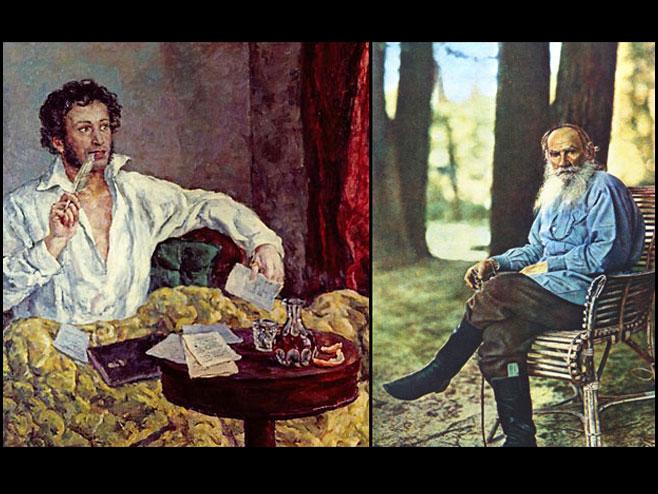 Tolstoj i Puškin - Foto: ilustracija
