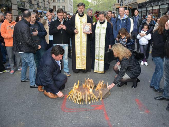 Vjernici: Ponovi ćemo sagraditi crkvu (foto: Milan Milatović/Facebook) -