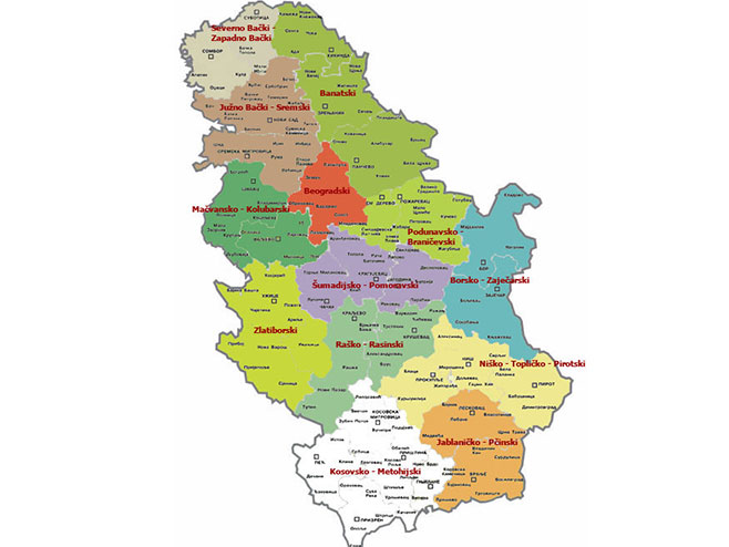 Mapa Srbije Sa Selima Superjoden