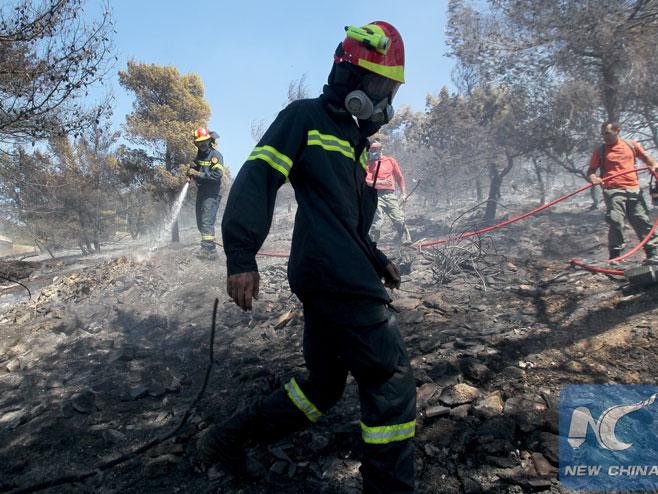 Požar u Grčkoj pod kontrolom (Foto:huaxia ) -