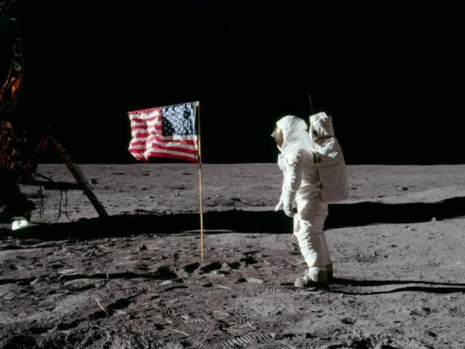 Nil Amstrong na mjesecu (Foto: Wikimedia Commons / NASA / Neil A. Armstrong) -