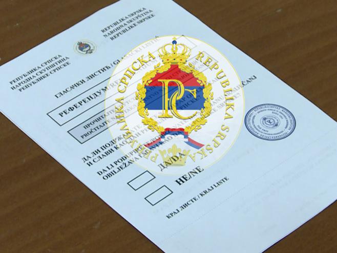 Glasački listić - Foto: RTRS