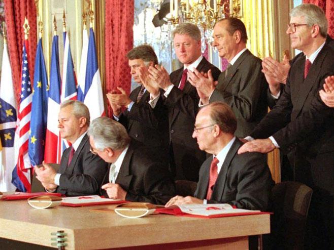 Potpisivanje Dejtonskog sporazuma - Foto: AP