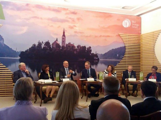 Predrag Gluhaković na Strateškom forumu na Bledu - Foto: RTRS