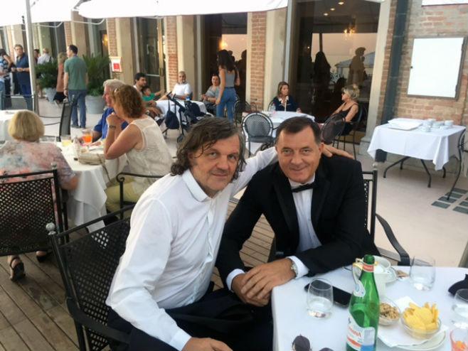 Dodik i Kusturica u Veneciji - Foto: SRNA