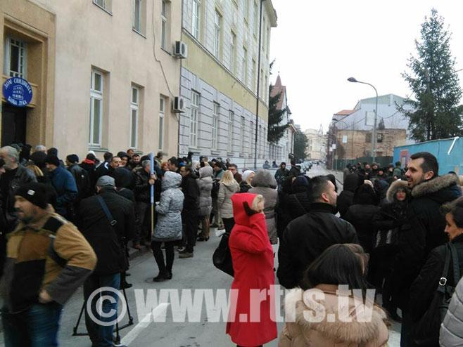 Sindikat - Mirni protest - Foto: RTRS