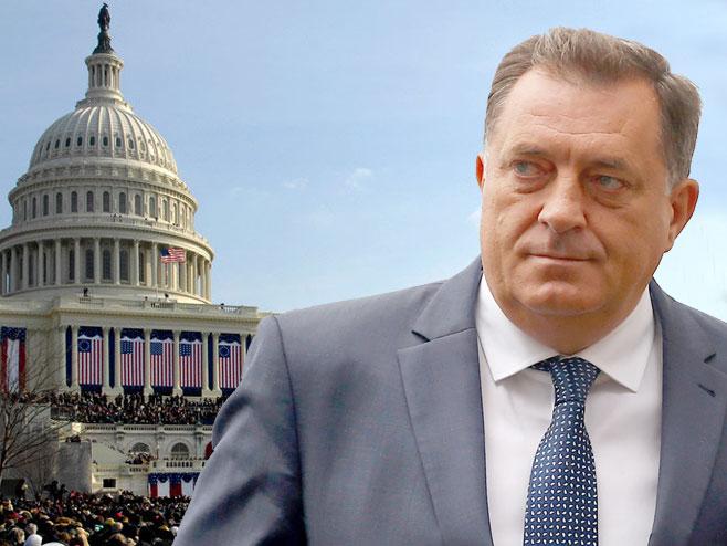 Dodik u Vašngtonu - Foto: RTRS