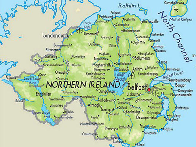 Sjeverna Irska - geografska mapa (foto:tellmamauk.org) -