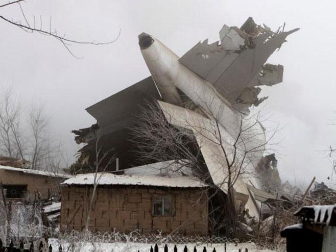 Kirgistan - srušio se avion (Foto: Twitter) -