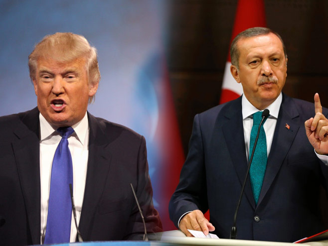 Tramp i Erdogan - Foto: ilustracija