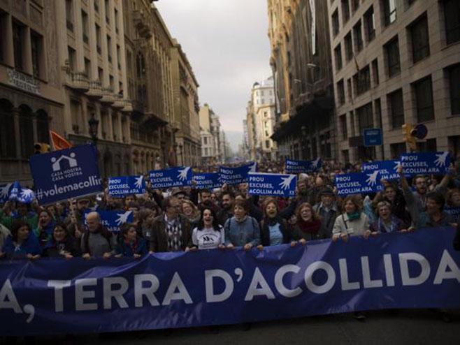 Barselona na ulicama, protest zbog izbjeglica