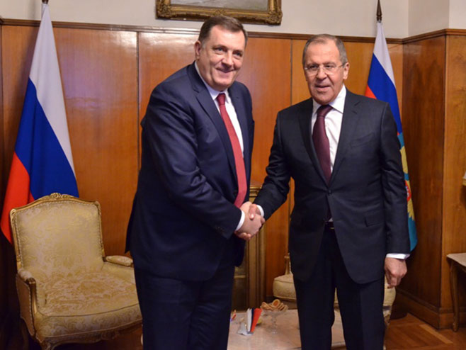 Milorad Dodik i Sergej Lavrov (Arhiv) - Foto: RTRS
