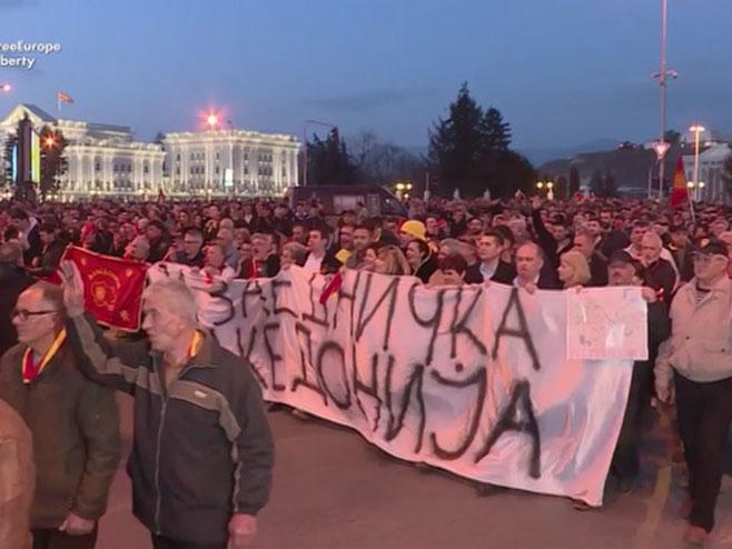 Protesti u Makedoniji - Foto: RTRS