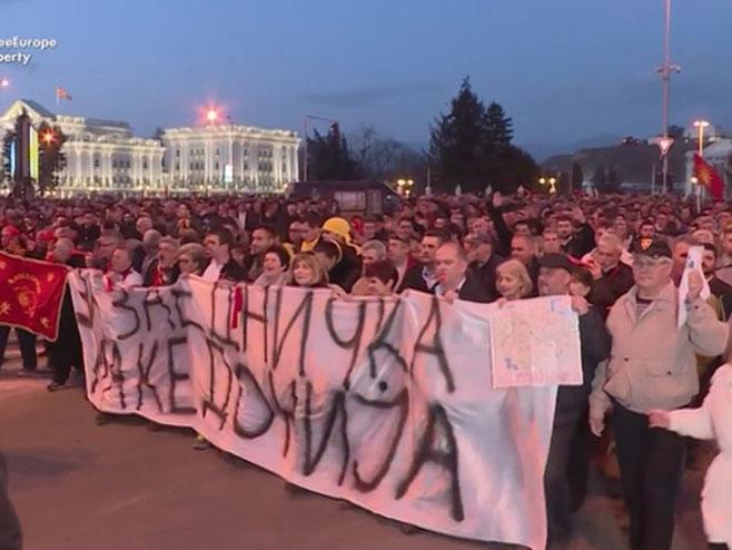 Makedonija - protesti - Foto: RTRS