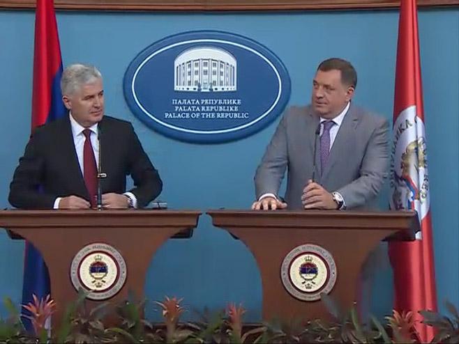 Čović i Dodik (Arhiv) - Foto: RTRS