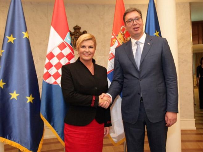 Kolinda Grabar Kitarović i Aleksandar Vučić (Foto: Tanjug / Sava Radovanović -