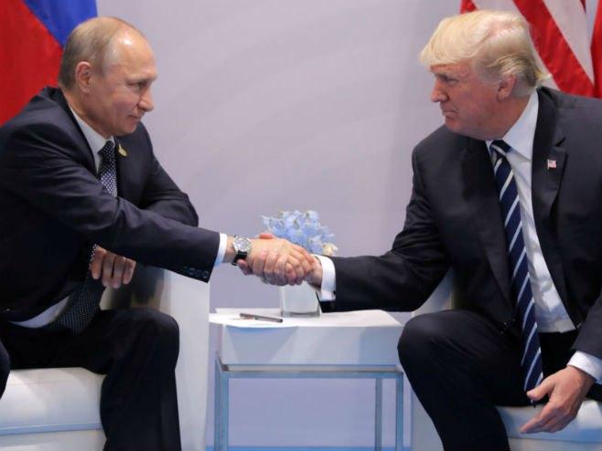 Susret Putina i Trampa u Hamburgu (Foto:news.sky.com) -