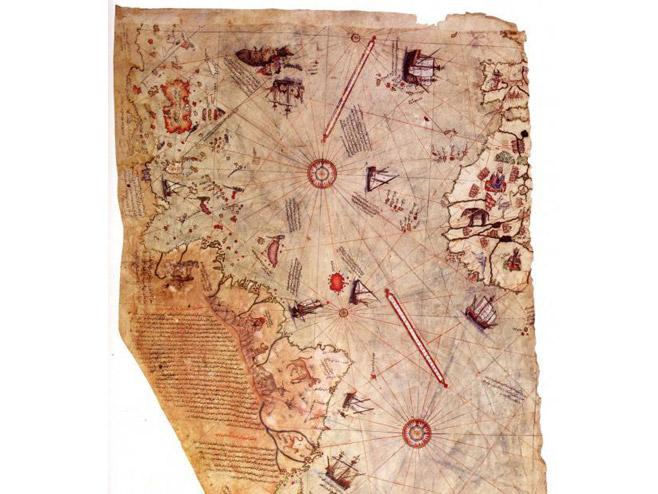 Mapa (Foto: Piri Reis/Public Domain) -