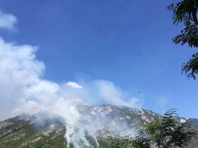 Požar kod Јablanice (foto: Civilna zaštita Opštine Јablanica) -