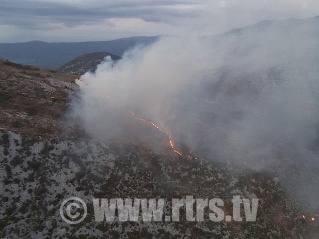 Požar kod Trebinja - Foto: RTRS