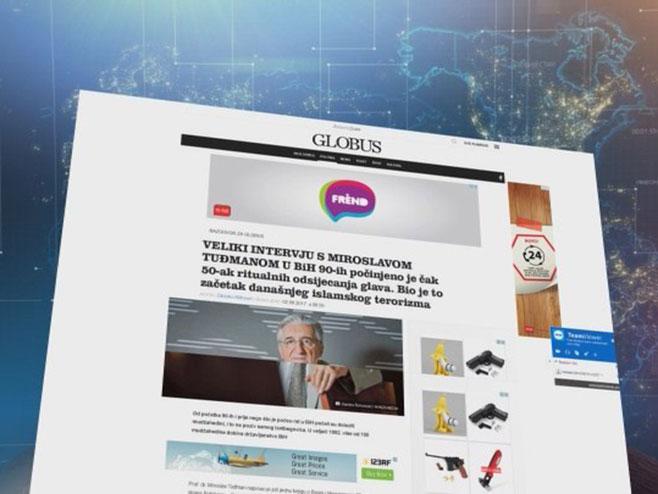 Globus o radikalizmu - Foto: RTRS