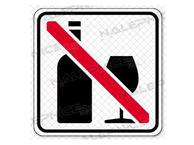 Zabranjen alkohol (foto:nalepnice.rs) -