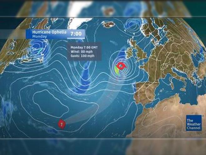 Uragan Ofelija - Foto: Screenshot/YouTube