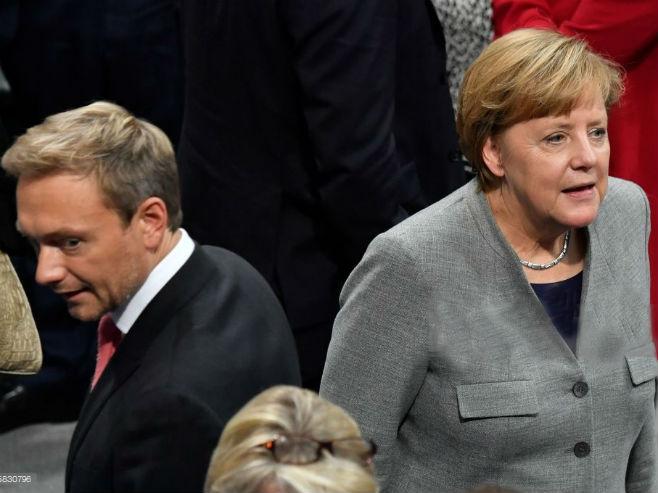 Angela Merkel i lider FDP Kristijan Lidner - Foto: Getty Images