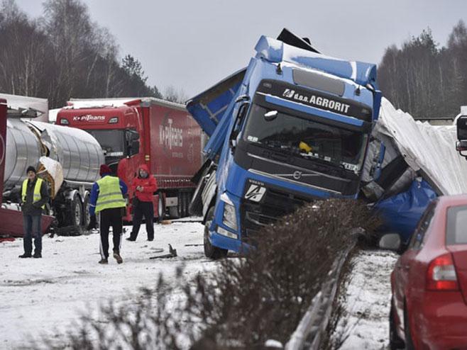 Snijeg u Češkoj - Foto: TANЈUG
