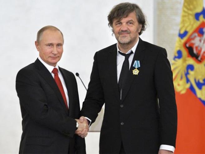 Vladimir Putin i Emir Kusturica - Foto: RTS