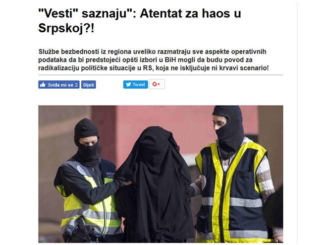 """""""Vesti"""" saznaju"""": Atentat za haos u Srpskoj!? - Foto: Screenshot"""