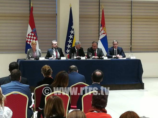 Trilateralni sastanak u Mostaru - Foto: RTRS