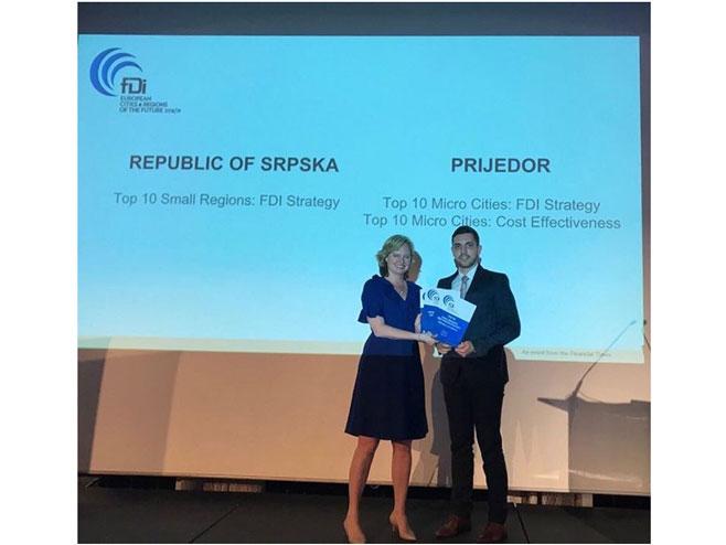 """Kan - dodjela nagrade """"Evropska regija budućnosti"""" - Foto: RTRS"""