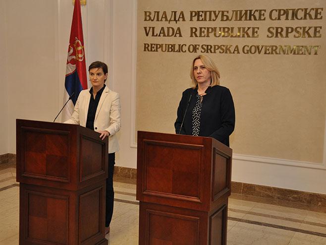 Ana Brnabić i Željka Cvijanović - Foto: SRNA