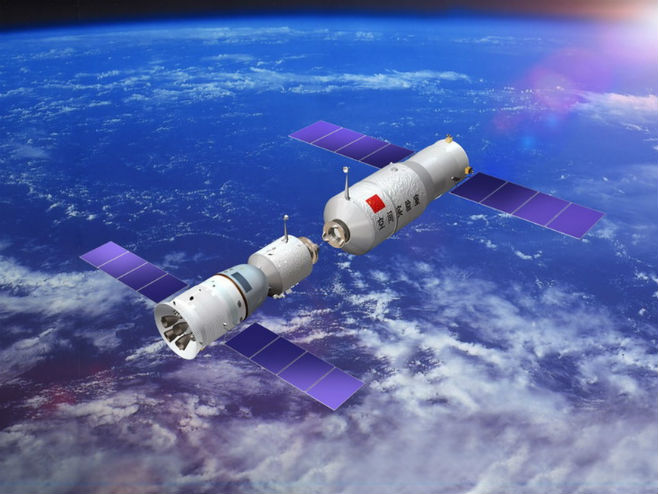 "Kineska svemirksa laboratorija ""Tijangong 1"" (Foto: China Manned Space Engineering Office) -"