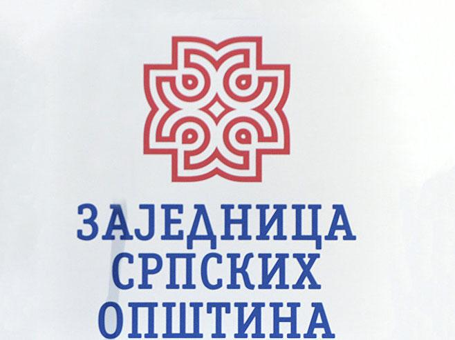 Zajednica srpskih opština - logo (Foto: Tanjug/Zoran Šestić) -