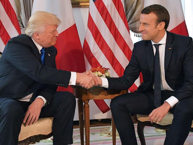Donald Tramp i Emanuel Makron - Foto: getty