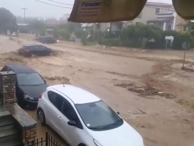 Poplave u Grčkoj - Foto: Screenshot