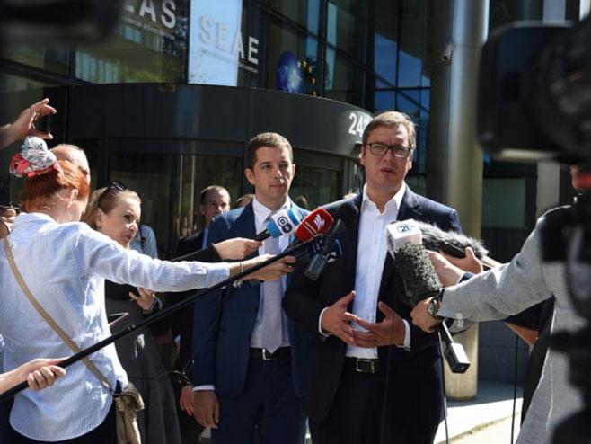 Vučić u Briselu: Tražićemo zajednički imenitelj